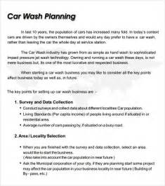 Car Wash Business Plan Template by Car Wash Business Plan Template 8 Free Documents In Pdf