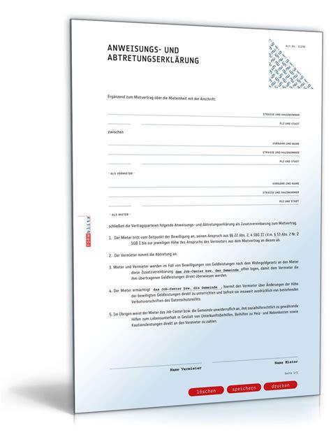 Bearbeitungsgebühr Kredit Zurückfordern Musterbrief Ausdrucken Abtretungserkl 228 Rung Wohngeld Vorlage Zum