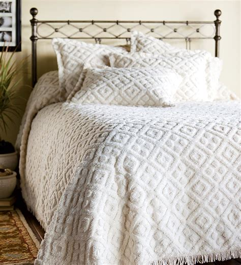 King Sized Cotton Chenille Bedspread Bedspreads