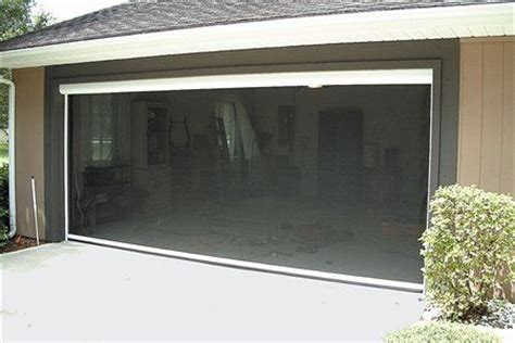 motorized retractable garage door screen photos mirage