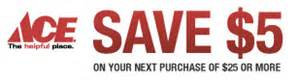 ace hardware voucher ace hardware coupon 5 off 25 purchase living rich
