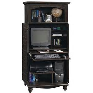 Painted Computer Armoire Sauder Harbor View Computer Armoire Antiqued Black Paint
