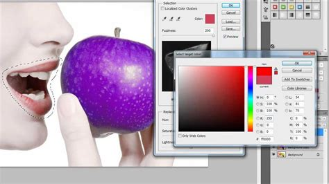photoshop cs5 tutorial simple face replacement photoshop cs5 color replacement tutorial youtube