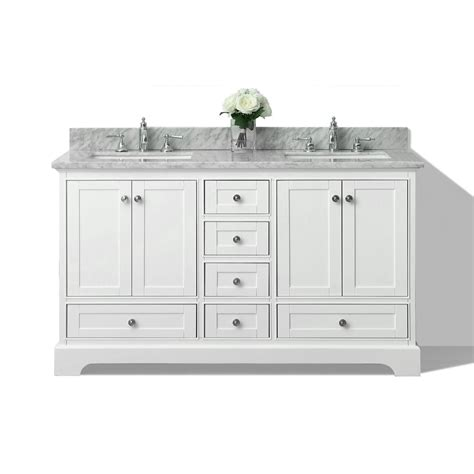 bathroom double vanities with tops shop ancerre designs audrey white undermount double sink