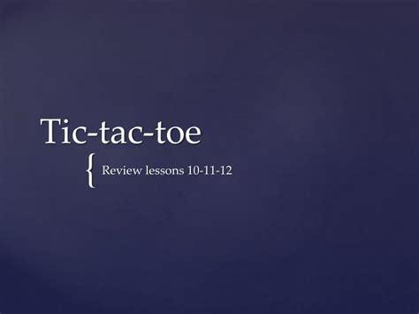 Ppt Tic Tac Toe Powerpoint Presentation Id 6665126 Tic Tac Toe Ppt