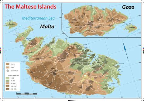 physical map of malta impressum