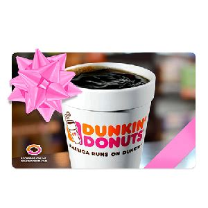 Dunkin Donut Gift Card Deal - dunkin donuts gift card deal gift ftempo