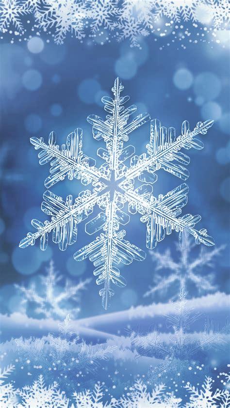 winter snowflake smartphone wallpaper gallery