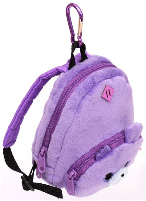 Rabbit Polka Backpack purple zombbit animal rabbit plush backpack bag
