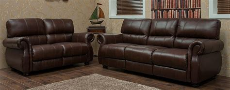 three seater and two seater sofas ascot 3 seater 2 seater leather sofa suite chestnut or