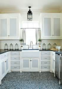 White Kitchen Cabinets With Tile Floor Bright As Yellow Kitchen Inspiration White Cabinets With