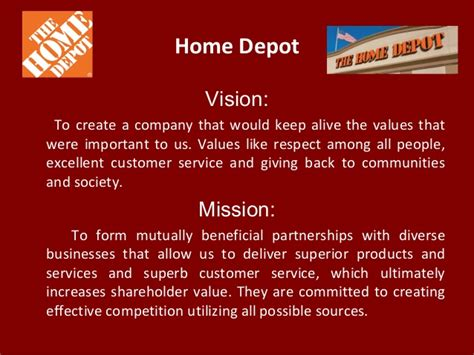 home depot vision to create