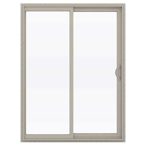 60 Inch Sliding Glass Patio Door Jeld Wen 60 In X 80 In V 2500 Series Vinyl Sliding Low E Glass Patio Door Thdjw181500200 The