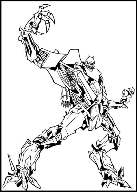 transformers movie coloring page transformer robot decepticons coloring page free