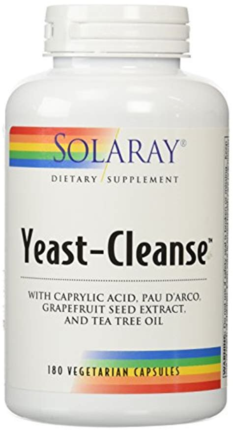 Yeast Detox Diet 10 Days by Solaray Yeast Cleanse 180 Capsules