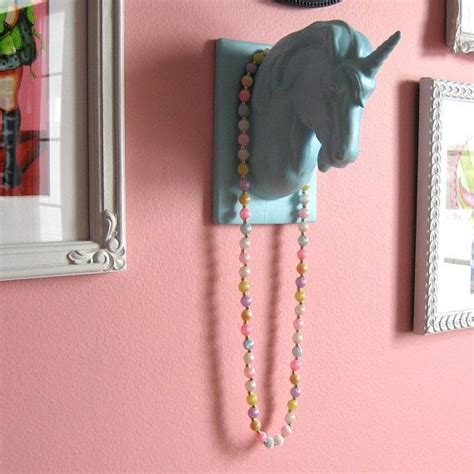 kids children on pinterest 35 pins mounted unicorn head wall hanging jewelry holder made to
