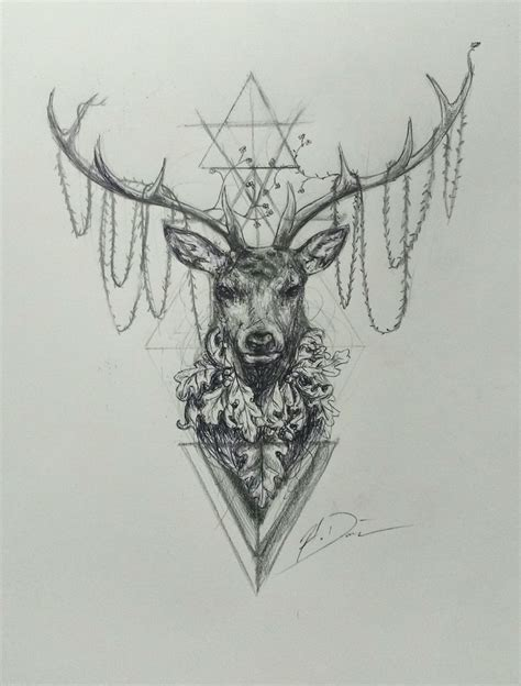 stag tattoo designs hannibal stag pinteres