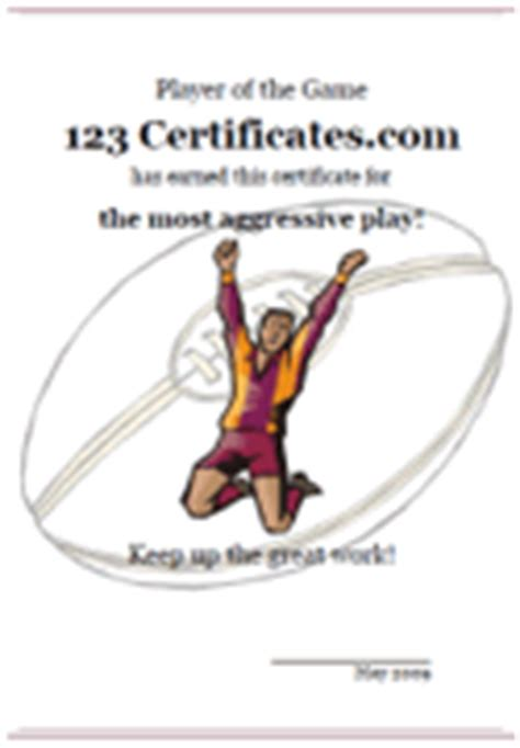 rugby league certificate templates free printable rugby certificates and rugby awards