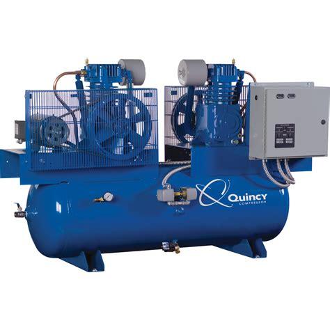 quincy duplexair compressor  hp  volt  phase  gallon horizontal model dcdc