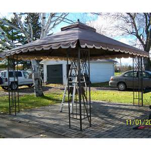 Gazebo Covers Replacement 10x12 by Zellers Victory Garden 10 X 12 Corner Pocket Replacement