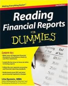 Mba For Dummies Epub by Reading Financial Reports For Dummies 2nd Edition Free