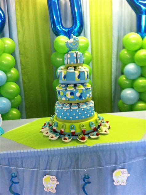 Blue And Green Baby Shower by Blue And Green Baby Shower Cake Cakecentral