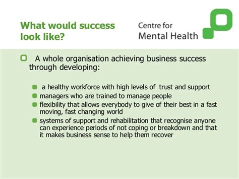 section 12 mental health managing mental health work preventing disability