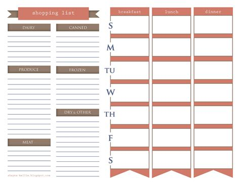 printable eating planner free printables meal planning new calendar template site