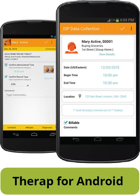mobile isp therap mobile applications