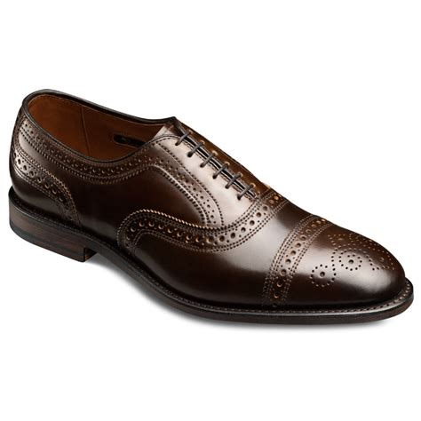 allen edmonds oxford shoes cordovan strand cap toe lace up oxford s dress shoes