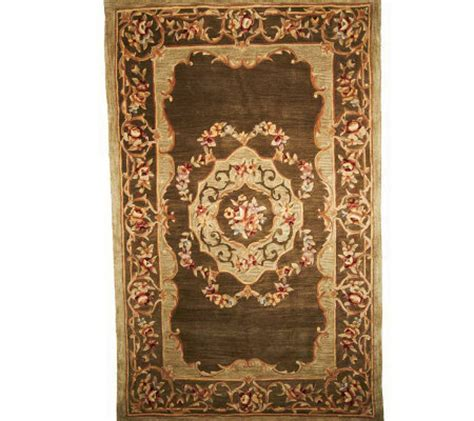 qvc area rugs royal palace royal palace floral aubusson 5 3 quot x 8 3 quot handmade wool rug qvc