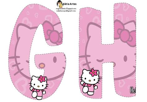 printable hello kitty letters 138 best images about fiesta hello kitty on pinterest