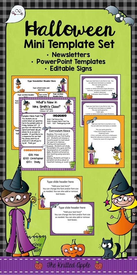 newsletter templates halloween fun and signs on pinterest