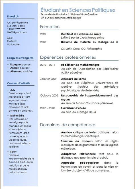Exemple De Lettre De Démission Sapeur Pompier Volontaire Exemple Cv 1 Colonne Cv Anonyme