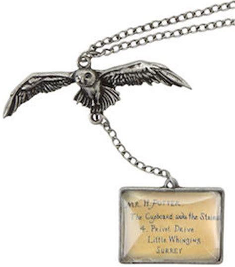 Hogwarts Acceptance Letter Pendant Harry Potter Owl And Hogwarts Acceptance Letter Necklace