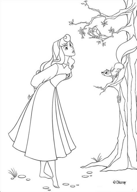 princess aurora coloring pages games princess aurora singing with birds coloring pages