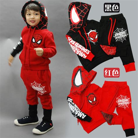 Set Polo Spider Kid children boys clothing set baby boy spider sports suits 2 6 years 2pcs sets