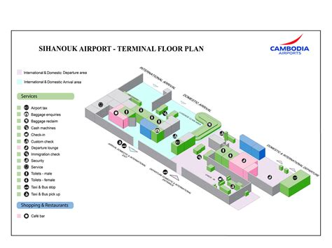airport terminal floor plan airport map cambodia airports
