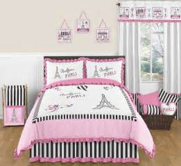 Paris eiffel tower french full queen teen comforter bedding set ebay