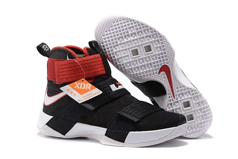 Sepatu Basket Nike Lebron Zoom Soldier 10 Bred Black Curry nike lebron soldier 10 bred black white hoop