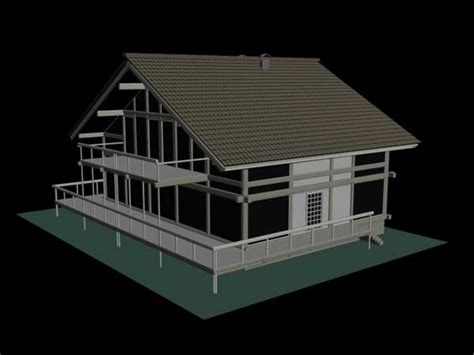 home design 3d objects bungalow manor house design 3ds 3d studio software architecture objects