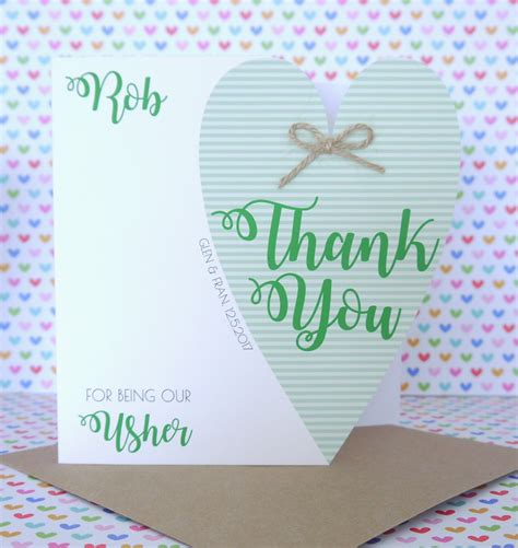 Handmade Wedding Thank You Cards - personalised handmade wedding thank you for being our