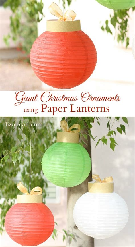 make paper lantern christmas ornaments dollar store crafts