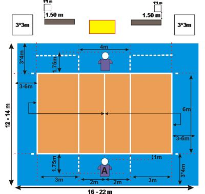 physical fitness  paralympic volleyball court diagram