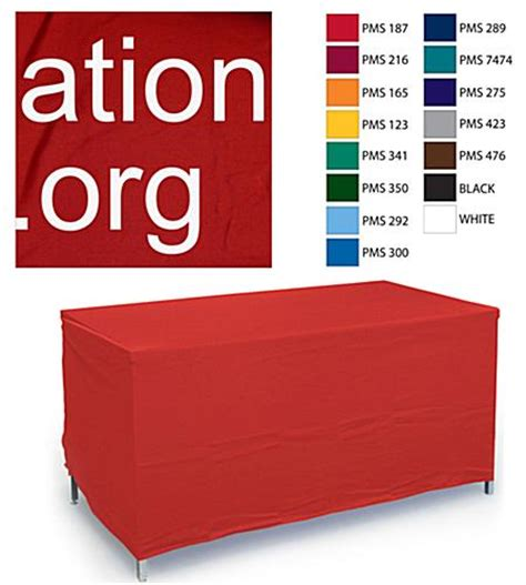 custom table covers custom color text imprinting