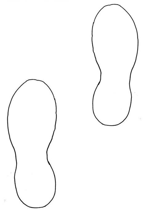 Footprint Cut Out Template running shoe print clipart classroom ideas