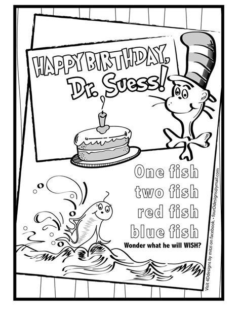 coloring pages dr seuss birthday 17 images about dr seuss coloring sheets on pinterest