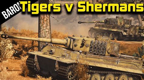 7 tiger tanks vs 25 sherman tanks war thunder custom