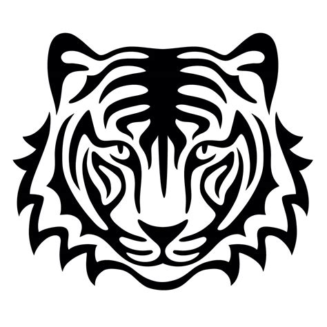 tiger stencil for glitter tattoos for horses