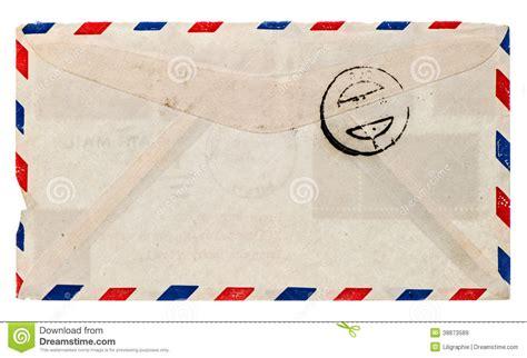 Vintage Airmail Envelope. Retro Post Letter Stock Image